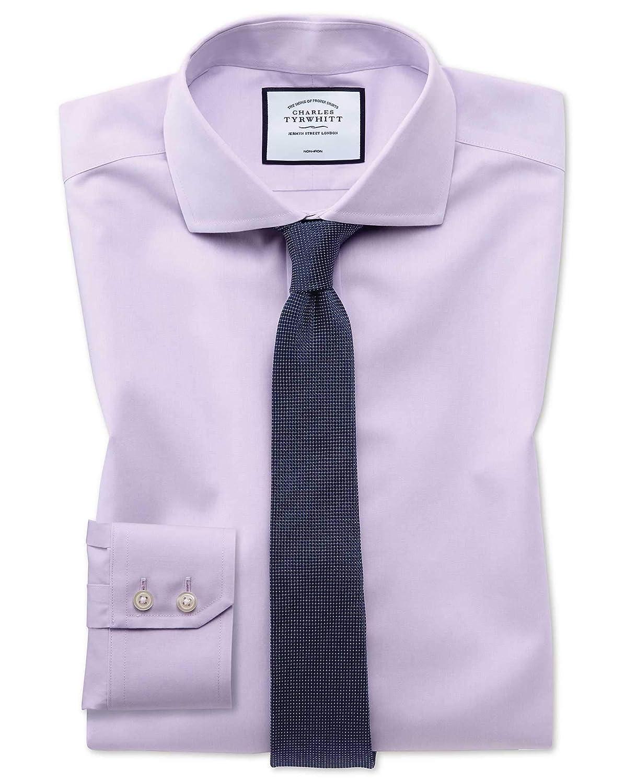 Popelinehemd Extra Slim Fit Fit Fit Bügelfrei in Lila B07MPZJJGN | Stil  6308d2
