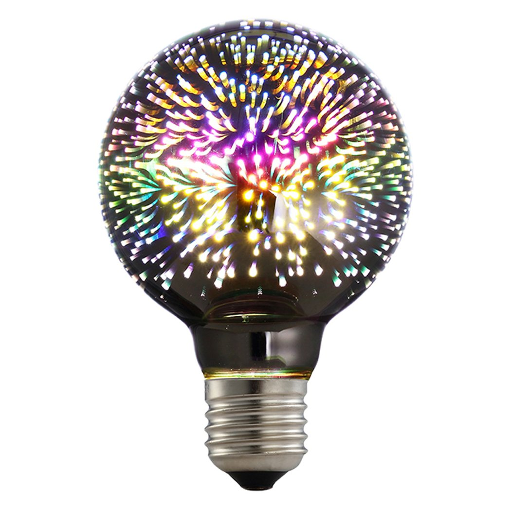 Outgeek Light Bulb, Lamp Bulb LED Colorful Decorative Filament Fireworks Bar Lighting Bulb