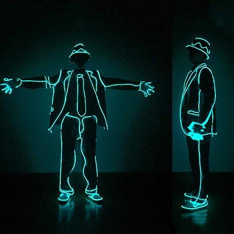 WSXX MJ Jazz Fluorescent Dance EL Luz de iluminación fría ...
