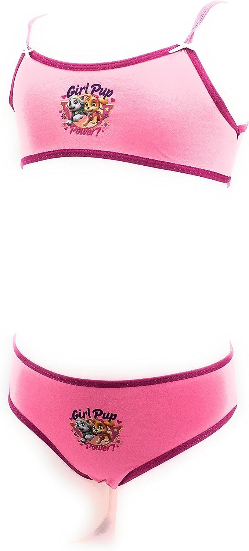 Culotte Top Court Bretelles Rose 100/% Coton Slip Paw Patrol La Pat Patrouille Ensemble brassi/ère Pat Patrouille