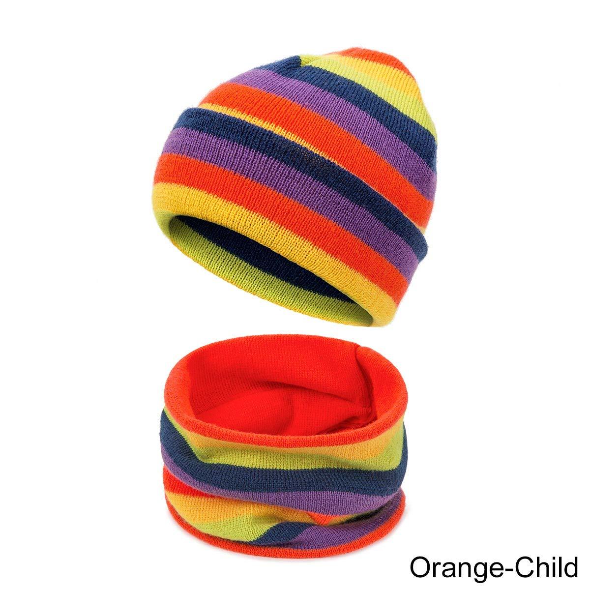 Tian Ran Dai Cappelli da Maglia Caldi Invernali per Genitori-Figli Set di Sciarpe Berretto di Lana con Cappuccio Ampio e sciccoso Berretto