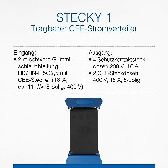as Schwabe Stromverteiler Stecky 1 Baustromverteiler Strom Verteiler 400V 60504