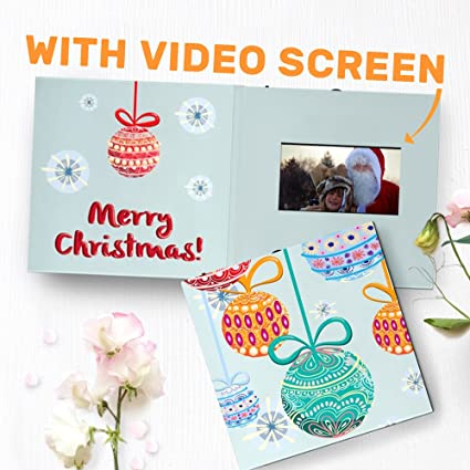 unique christmas card with video screen modern christmas card photo christmas card cute