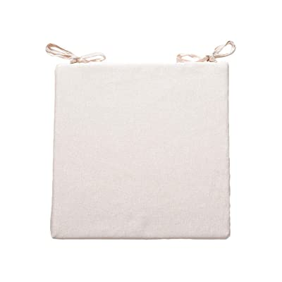 Baota 38X38Cm/43X43Cm Plaid Chair Cushion Mat Pad Cushions Mat Pad Seat Cushions Decoration for Home Office Sofa,Rice White,About 43X43Cm: Kitchen & Dining