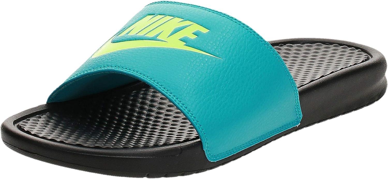 Motivación Pío Alrededores  Nike Men's Benassi Blue Beach & Pool Shoes: Amazon.co.uk: Shoes & Bags