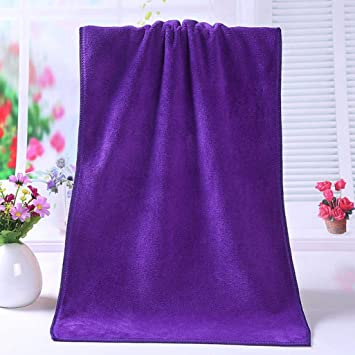 TAOtTAO Bath Towel 1pc Toalla Ducha Microfibra absorbido Suave cómodo Toalla, Morado, (L*Wcm) 35cm * 75 cm (1cm=0.39 Inches): Amazon.es: Hogar