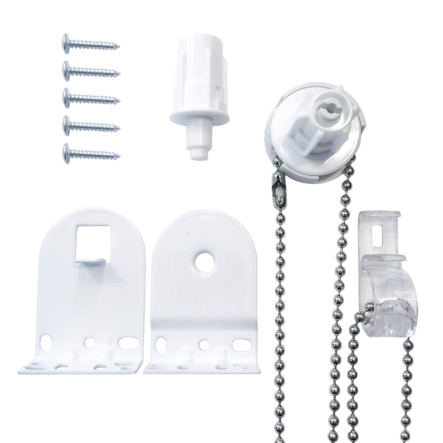 25mm Quality Metal Bracket Upgrade Roller Blind Fittings Spare Kit White Heavy Duty Furnished RB-109