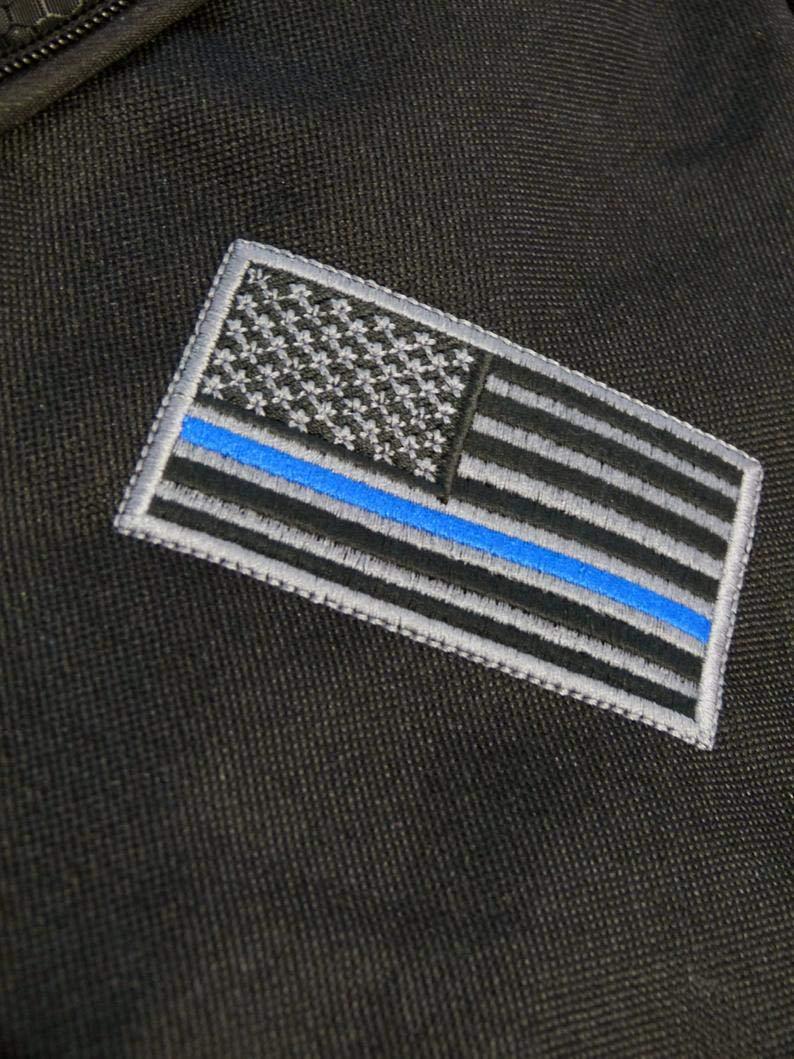 Bag, Thin Blueline Flag Shoulder Sling Backpack Police Law Enforcement Sheriff Support