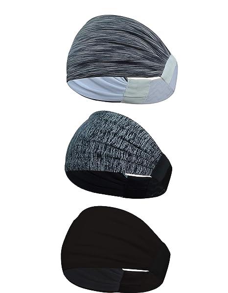 Gratisversand perfekte Qualität Geschäft KEREITH 3 Pack Frauen Leichter Sport Stirnband, rutschfest Schweißband für  Männer- Dehnbar Haarband Kopfbedeckung - Am besten zum Laufen Radfahren ...