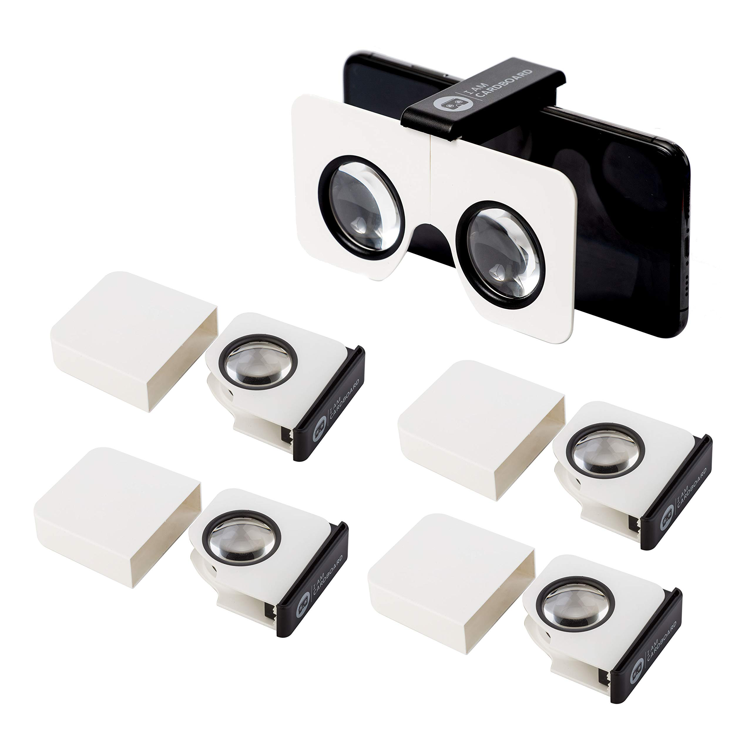 Five-Pack Pocket 360 Mini VR Viewer | The Best Google Cardboard Virtual Reality Glasses | Google Cardboard v2 Inspired | Small and Unique Travel Gift Pack of 5 by I AM CARDBOARD