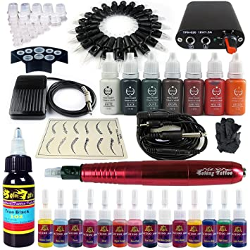 Solong Tattoo Hybrid Tattoo Pen Kit 2-In-1 Rotary Tattoo Machine & Permanent