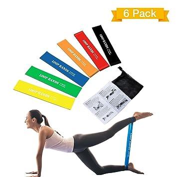 Bandas Elasticas de Fitness - TOPELEK 6 Cintas Elastica Set, Loop Resistance Bands para Fitness Crossfit Pilates Fuerza Fisioterapia Movilidad Recuperación: ...