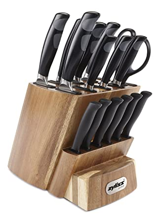 ZYLISS Control Kitchen Knife Set With Block   Professional Cutlery Knives    Premium German Steel