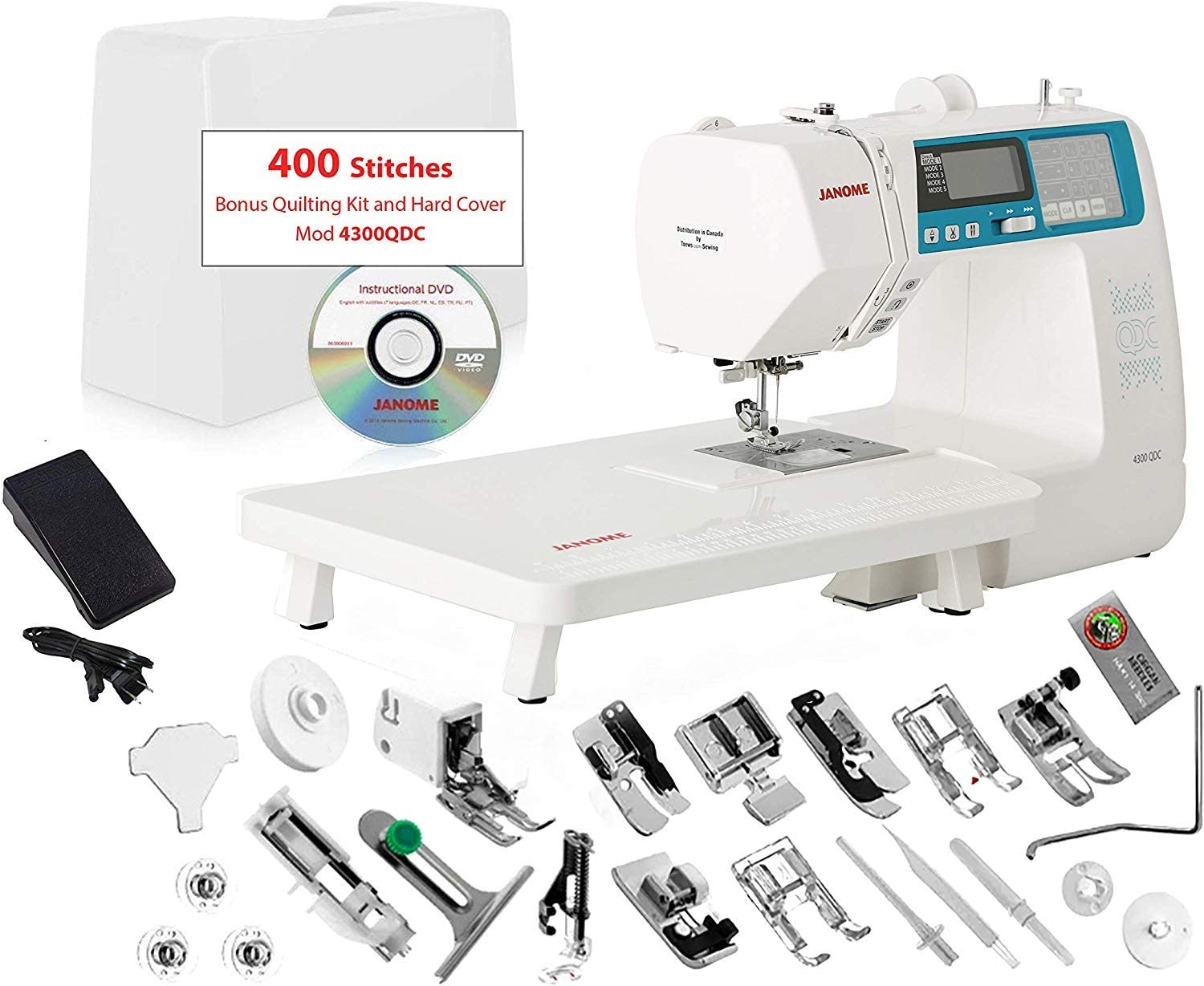 Ease of portability: Janome 4300QDC-B Sewing and Quilting Machine
