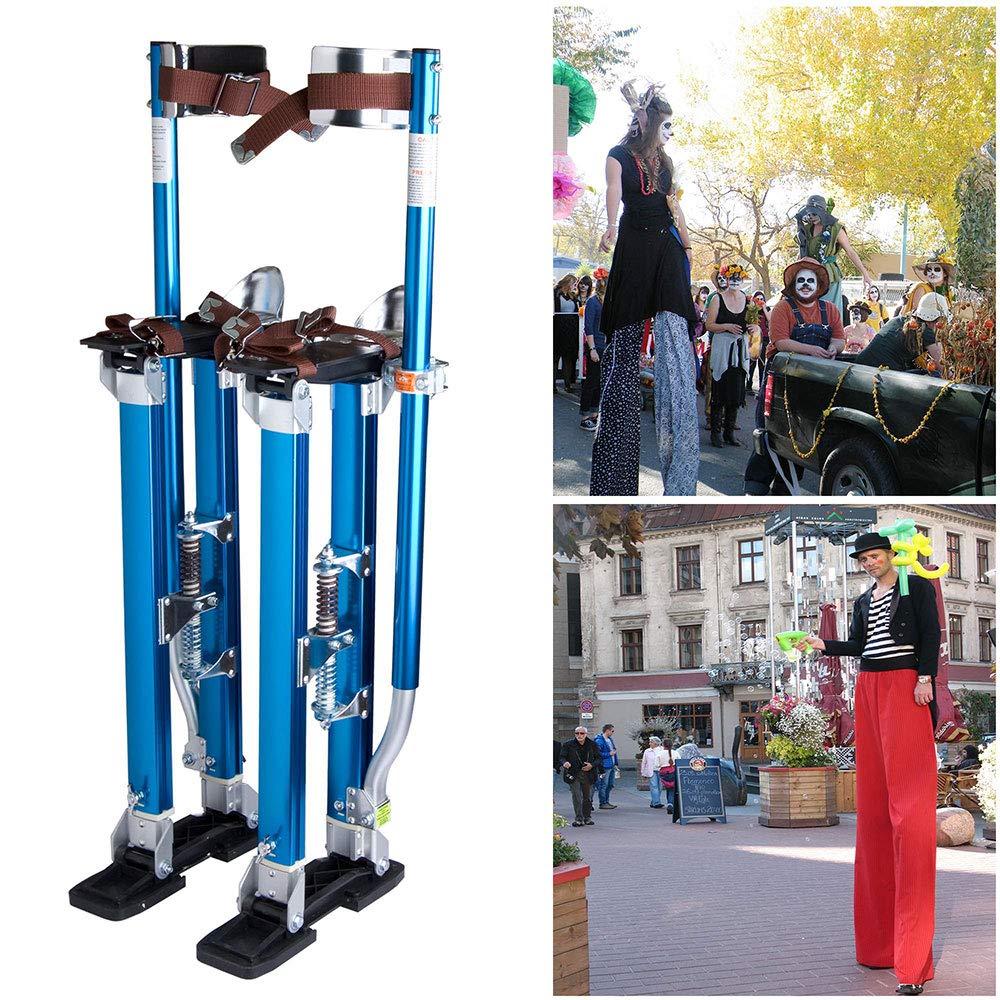 Yescom Drywall Stilts 24-40 Aluminum Tool Stilt for Painting Painter Taping Blue