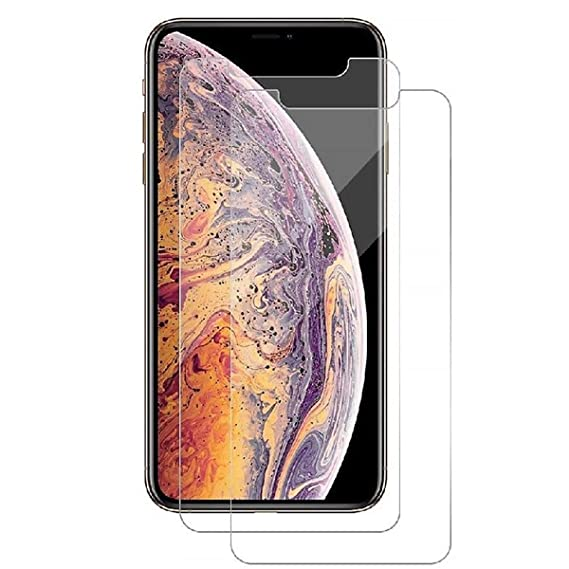 newest 1d6ef 05c0e Amazon.com: iPhone Xs Max Tempered Glass Screen Protector 6.5 Inch ...
