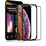 OAproda iPhone XS Max 全面保護フィルム 強化ガラス【ケースに干渉しない】ガイド枠付き/存在感ゼロ/画面鮮やか高精細(アイフォンxs max 6.5インチ用 フィルム)