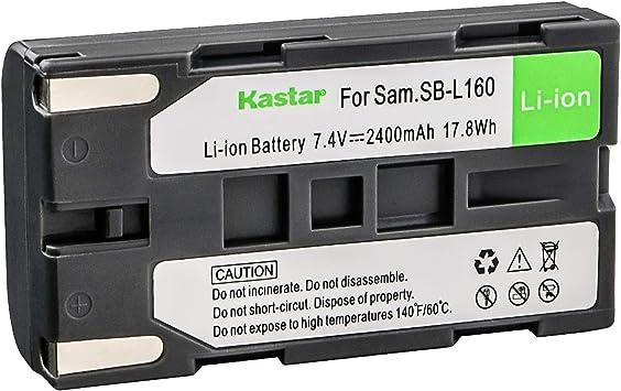 Amazon Com Kastar Camcorder Battery Replacement For Samsung Sb L110a Sb L160 Sb L320 And Samsung Sc L Series Sc W Series Vm A Series Vm B Series Vm C Series Vp L Series Vp M Series Vp W Series Camcorder Camera