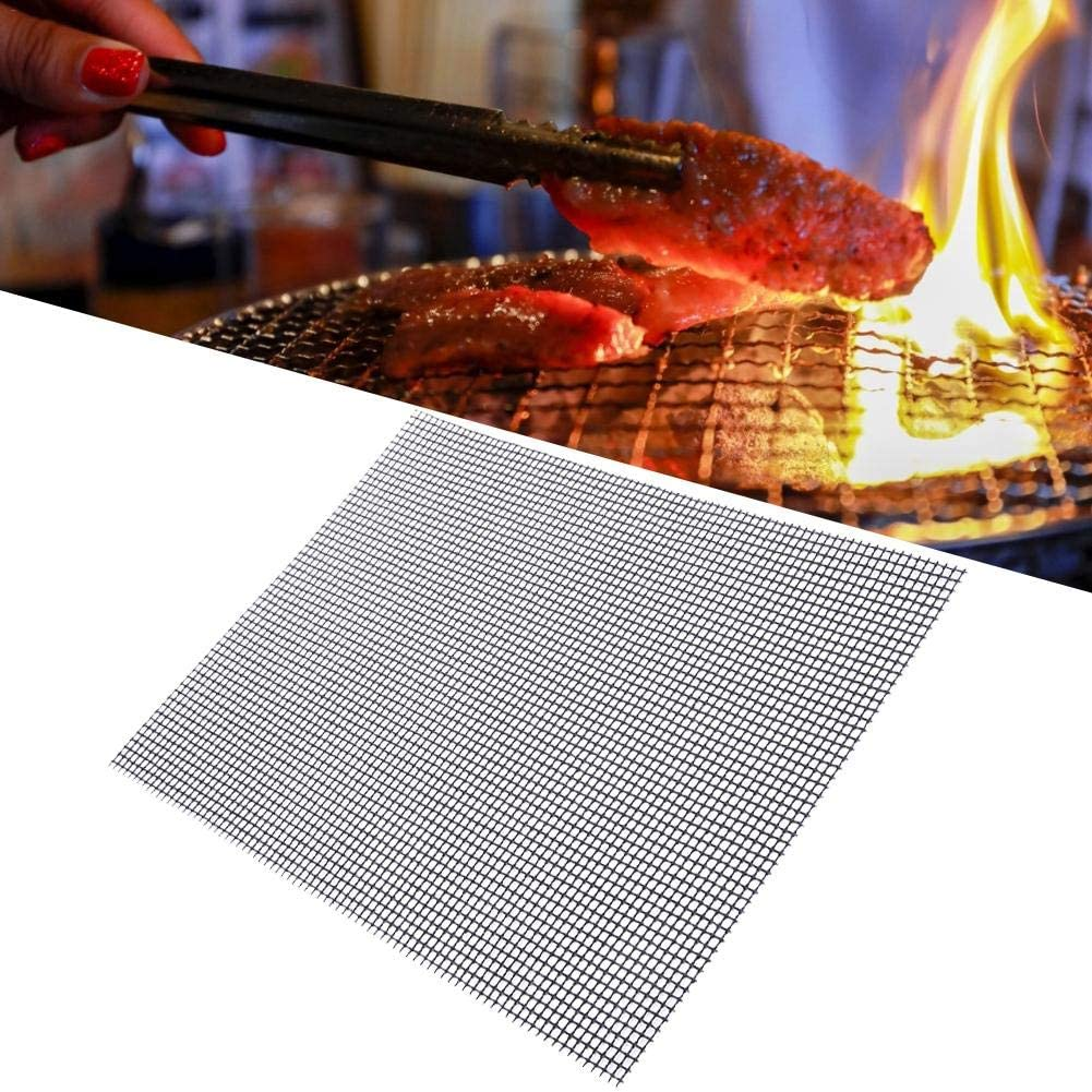 Grill Mat Set of 3 Anti-Stick BBQ Grill Mats Works on Smoker Gas Thrivinger BBQ Grill Mesh Mat Charcoal Grill-Easy to Clean for Ovens and Outdoor Grill Pellet