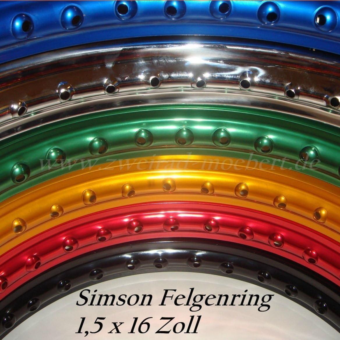 ALU Felge Felgenring 1,60 x 16 f/ür Simson S50 S51 S70 Schwalbe Kr51