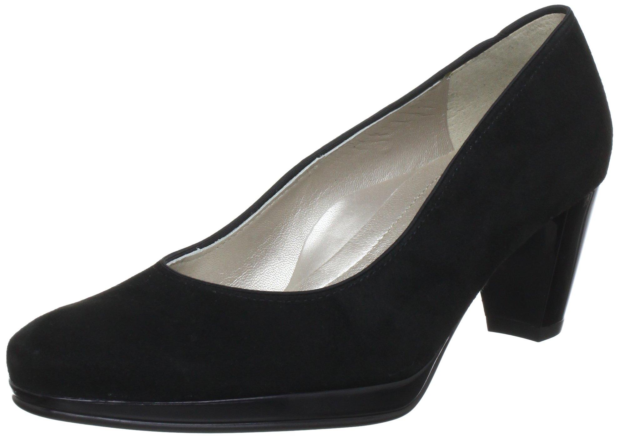 Ara Women's Macaw Dama Balleras Boat It Long Velor Black Leder Uniform Dress Shoes 42
