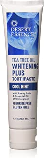 product image for Desert Essence Natural Tea Tree Oil Whitening Plus Toothpaste - Cool Mint - 6.25 Oz - Antiseptic Tea Tree Oil - Zinc Citrate - Baking Soda - Freshens Breath - Reduced Plaque - Fluoride & Gluten Free