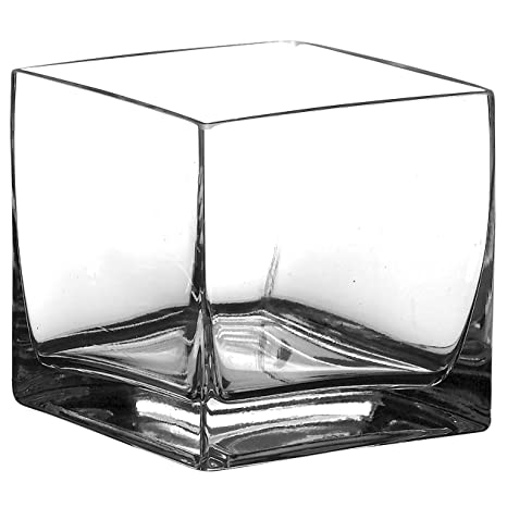 Amazon Syndicate Sales 6 X 6 X 6 Square Vase Clear