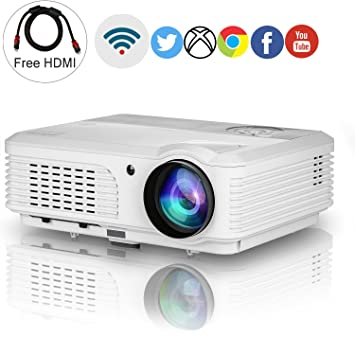 EUG Wireless proyector HD 1080p Apoyo, 4200 Lumen LCD LED Home ...