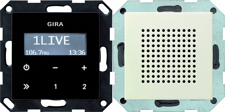 Gira 228001 Unterputz Radio RDS System 55, cremeweiß 5222035