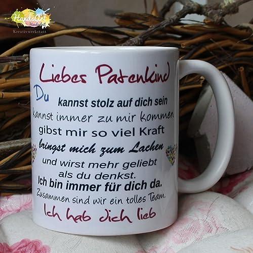Kaffeebecher Tasse Liebes Patenkind Tante Onkel Weihnachten