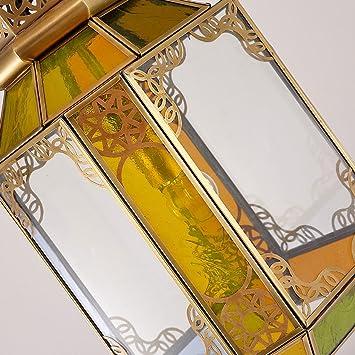 Longwei Lámpara de Cristal Europeo Color Manual de Soldadura de una Sola Cabeza Dormitorio decoración del Restaurante led: Amazon.es: Hogar