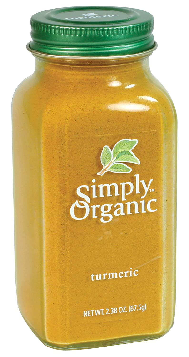 Simply Organic Turmeric Root Ground Certified Organic, 2 38-Ounce Container