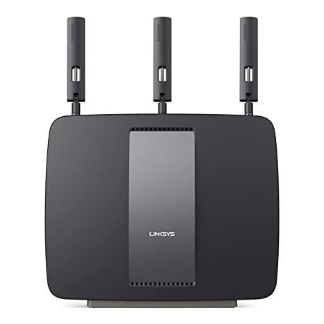 Linksys AC3200 Tri-Band Smart Wi-Fi Router with Gigabit and USB, Designed for Device-Heavy Homes, Smart Wi-Fi App Enabled to Control Your Network from Anywhere (EA9200-4A) Routers at amazon