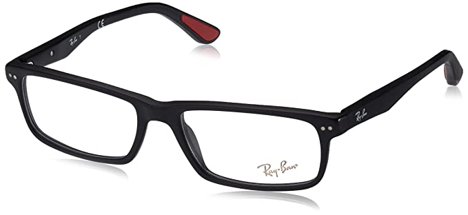 893448a974 Image Unavailable. Image not available for. Color  Ray-Ban Men s 0rx5277 No  Polarization Rectangular Prescription Eyewear Frame Sandblasted Black 52 mm