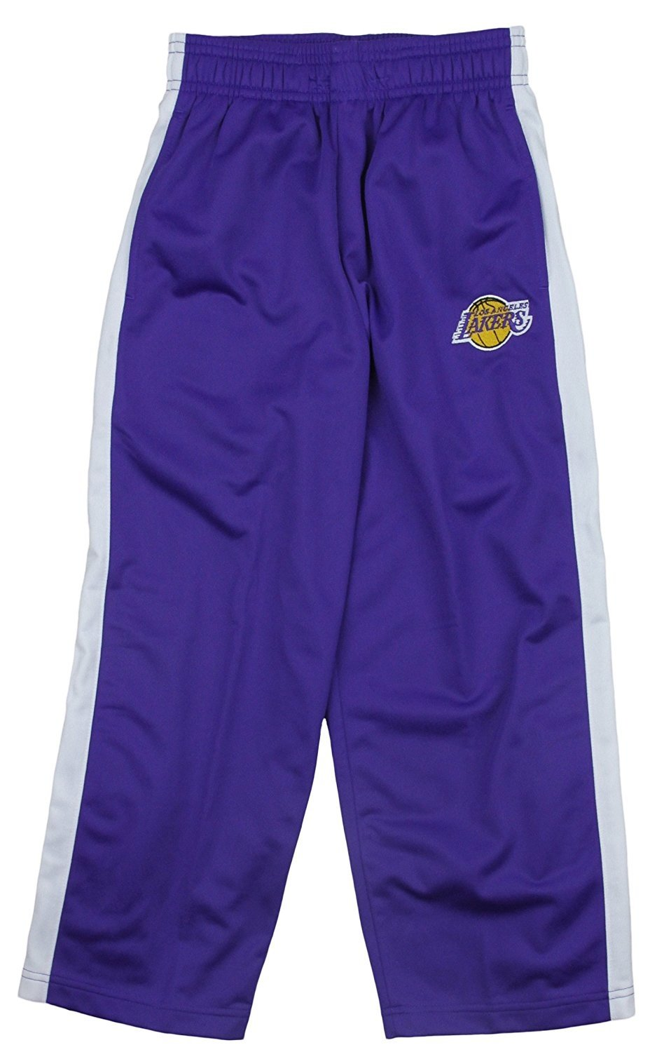 Los Angeles Lakers NBA Little Boys and Big Boys Tricot Track Pants - Purple OuterStuff