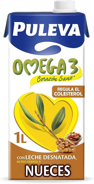Puleva Omega 3 Leche con Omega 3 y Nueces 1L: Amazon.es ...