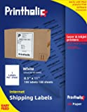 "Printholic Full Sheet Shipping Labels-8.5"" x 11"" Address Mailing Sticker Self Adhesive for Laser & Inkjet Printers (100…"