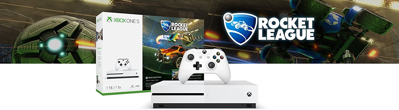 Amazon.com: Consola Xbox One S 1 TB Rocket League blast-off ...