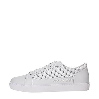 6690beb0041fd2 Armani Jeans AJ 6A423 Sneakers Herren Leder Weiß 45  Amazon.de  Schuhe    Handtaschen