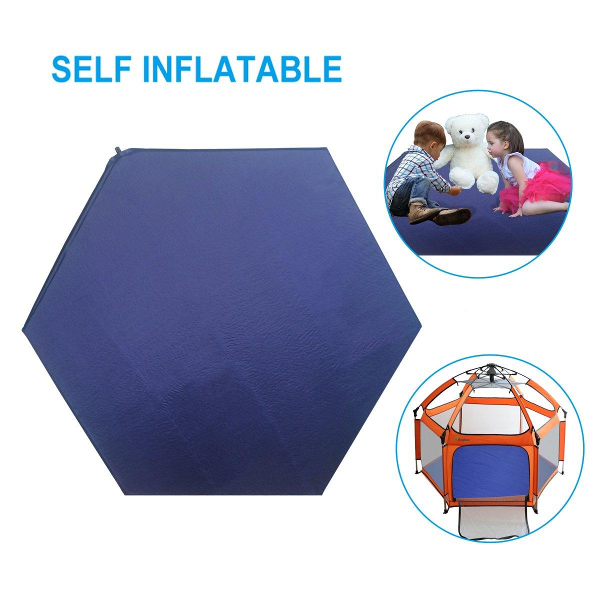 Playpen Mat - Kids Pop up Travel Cot Mattress for Playpen 140CM126CM, Comfy Eco Fibre Cot Mattress for Outdoor Indoor (Playpen Mat)