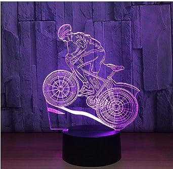7 Colores Lámpara Usb 3D Lámpara Led Bicicleta De Montaña 3D Luces ...