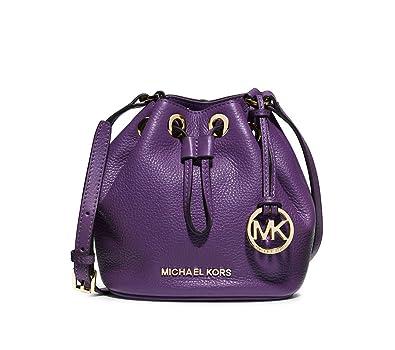 91b93c274842d1 MICHAEL Michael Kors Jules Drawstring Crossbody Bucket Bag in Purple  Violet: Amazon.co.uk: Shoes & Bags