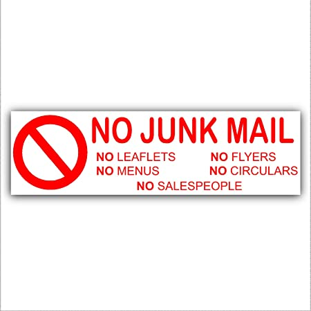 no junk mail leaflets menus flyers circulars salespeople letterbox