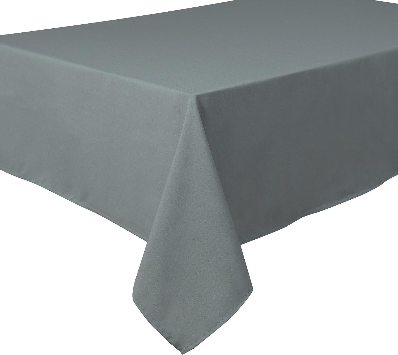 Home Direct Nappe de qualit/é Lourde Facile dentretien Carr/ée 180 x 180 cm Uni Blanc