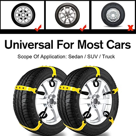 Best All Season Tires 2020.Car Snow Chains Snow Tire Chains For Most Cars Anti Slip Car Chains Car Emergency Chains All Season Anti Skid Snow Cables Car Suv Tire Cables For Tire