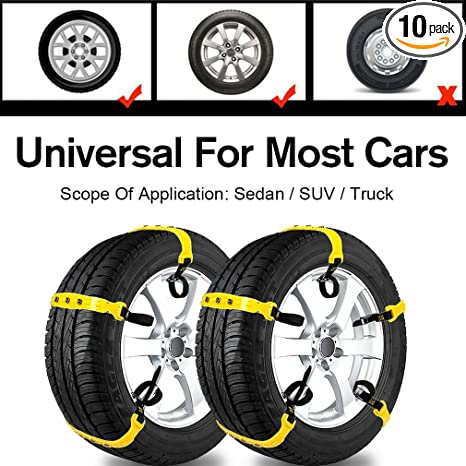 Amazon Com Car Snow Chains Snow Tire Chains For Most Cars Anti Slip