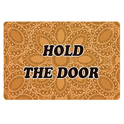 Amazon Com Hugs Idea Hold The Door Pattern Doormat Kitchen Floor