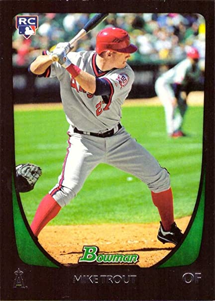 2011 Bowman Draft Baseball 101 Mike Trout Rookie Card At