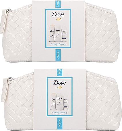Pack de 2 bolsas de maquillaje Dove Classic Beauty, bolsa de ...