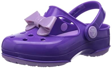 5bb1e4c5259be7 crocs Carlie Bow Mary Jane Clog (Toddler Little Kid)